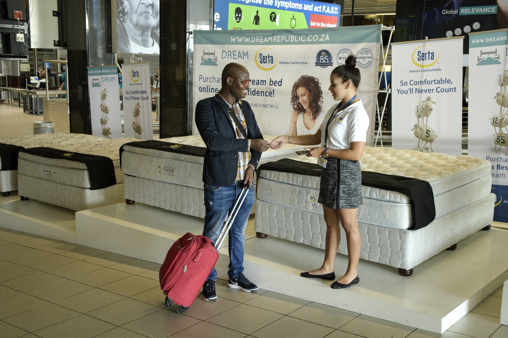 Airport Ads implements activations campaign for Serta