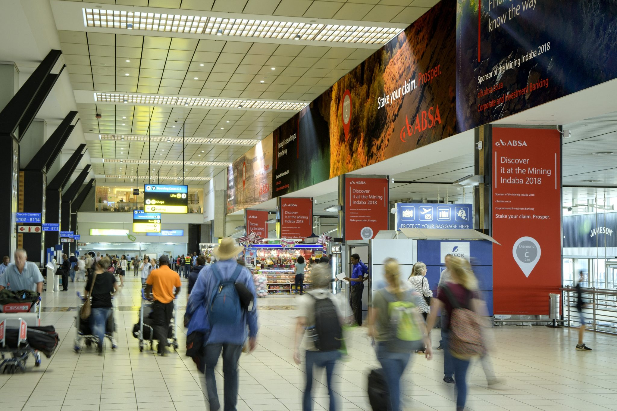 ABSA branding dominates with Airport Ads