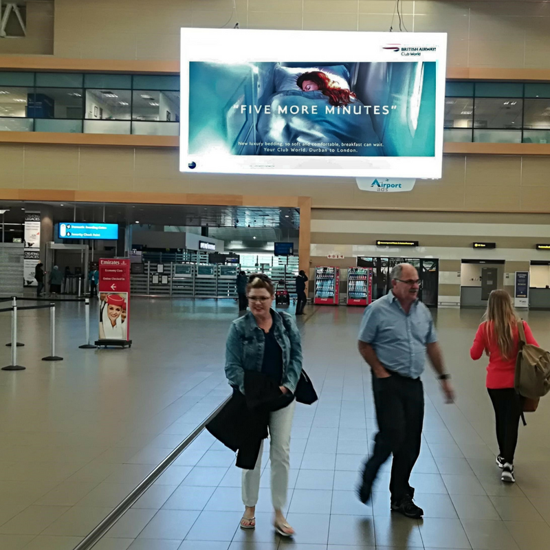 British Airways Airport Advertising Durban