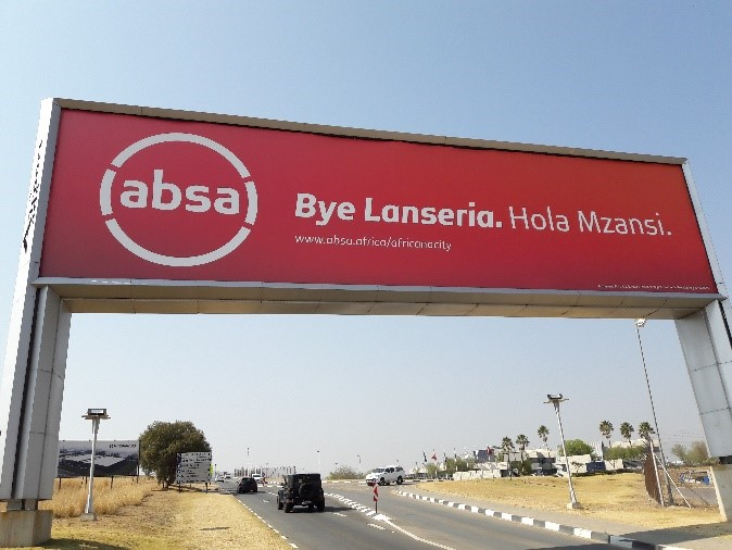 ABSA Rebrand, ABSA Africanacity Rebrand Airport Advertising