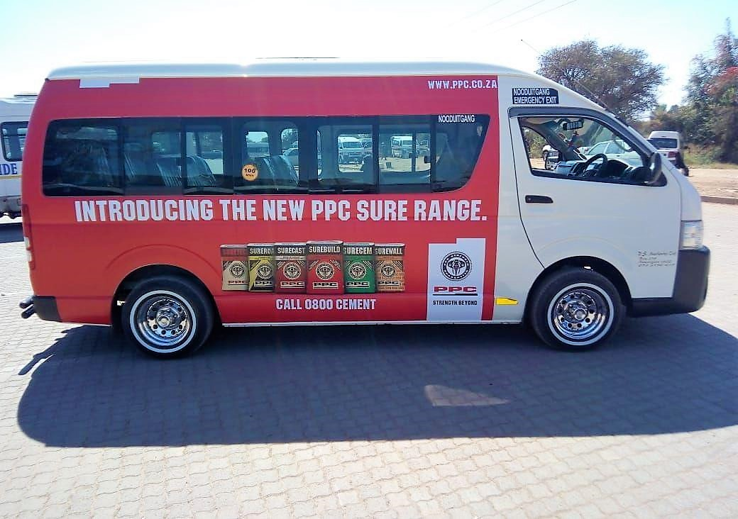 PPC Cement Taxi Branding