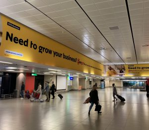 MTN Branding at King Shaka Airport in Durban