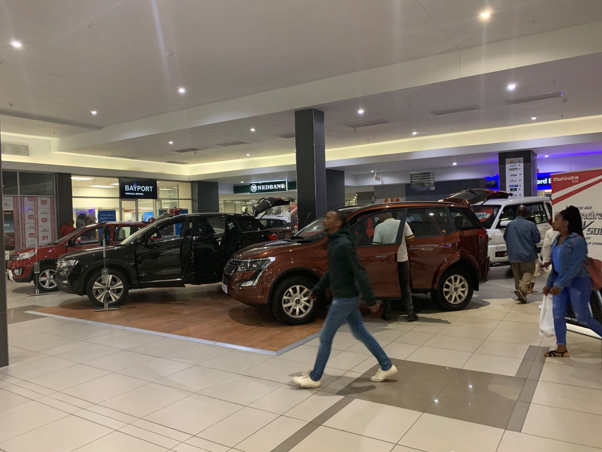 Shopping Centre Car expo in busy mall in Umlazi South Africa