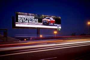 Ford Billboard on busy highway south africa